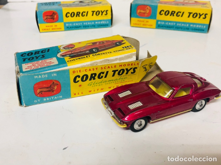 CORGI TOYS 310 CHEVROLET CORVETTE STING RAY ORIGINAL BOX GT.BRITAIN (Juguetes - Coches a Escala 1:43 Corgi Toys)