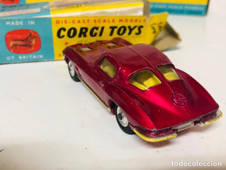 Coches a escala: CORGI TOYS 310 CHEVROLET CORVETTE STING RAY ORIGINAL BOX GT.BRITAIN - Foto 2 - 165505694