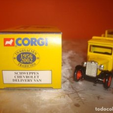 Coches a escala: CAMION CHEVROLET DELIVERY VAN ´SCHWEPPES´. Lote 191624458
