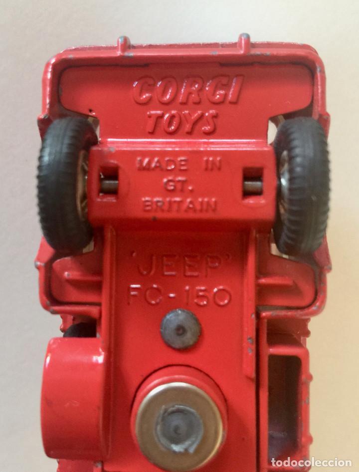 Coches a escala: CORGI TOYS JEEP FC-150 CAMIÓN – ROJO - VINTAGE 1965 ENGLAND - Foto 12 - 192911115