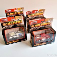 Coches a escala: CORGI FIRE HEROES SET DE 4 ESCALA 1/43. Lote 194566243