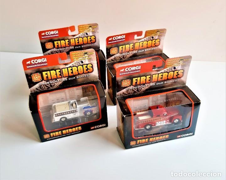 CORGI FIRE HEROES SET DE 4 ESCALA 1/43 (Juguetes - Coches a Escala 1:43 Corgi Toys)