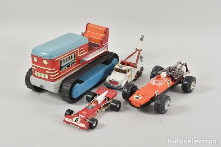 Coches a escala: colección juguetes coches ua. Matchbox, corgitoys, siku de 5,5 TRACTOR ORUGA HOJALATA 18 cm. 143 eu - Foto 2 - 199066062