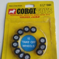 "Coches a escala: REPUESTO RUEDAS CORGI TOYS. ""GOLDEN JACKS"" TAKE-OFF WHEELS. NUEVAS.. Lote 219441895"