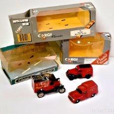 Coches a escala: CORGI 3 COCHES CLASSICS EN CAJA - ESCALA 1/43 METALICOS. Lote 222368778
