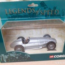 Coches a escala: A ESTRENAR! CORGI 00203 RACING CAR SILVER. LEGENDS OF SPEED. NUEVO EN SU CAJA!. Lote 240921025