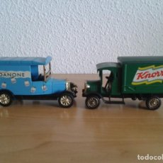 Coches a escala: DANONE MORRIS 1925 KNORR DENNIS CAMION 1920. Lote 245099885