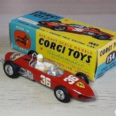 Coches a escala: FERRARI 156 SHARKNOISE F1# 154, METAL ESC 1/43, CORGI TOYS GT. BRITAIN, ORIGINAL AÑO 1962. CON CAJA. Lote 245543900
