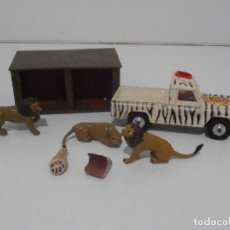 Coches a escala: LAND ROVER CORGI TOYS, LIONS OF LONGLEAT GIFT SET 8, MADE IN GREAT BRITAIN. Lote 254498420