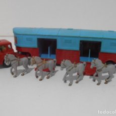 Auto in scala: CAMION CON CABALLOS, CIRCUS CORGI, CHIPPERFIELDS CIRCUS BEDFORD TRUCK, MADE IN GREAT BRITAIN. Lote 254523945