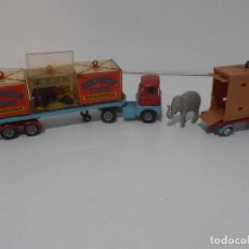 Auto in scala: CAMION CON REMOLQUE, CIRCUS CORGI, CHIPPERFIELDS CIRCUS SCAMMELL HANDYMAN , MADE IN GREAT BRITAIN. Lote 254524525