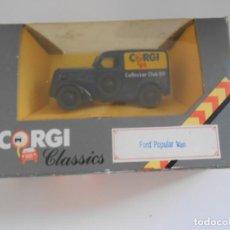 Coches a escala: 1/43 COCHE FORD POPULAR VAN COLLECTOR CLUB 1989 MODEL CAR 1:43 CORGI TOYS COLECCIONISTA. Lote 261218980