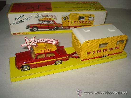 PEUGEOT 403 Y CARAVANA PINDER CIRCUS DE DINKY TOYS ORIGINAL (Juguetes - Coches a Escala 1:43 Dinky Toys)