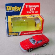 Coches a escala: AUTOMOVIL TRIUMPH TR7, SPORTS CAR, Nº 211, FABRICADO POR DINKY, CON CAJA, 1970S. Lote 14292150