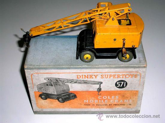 GRUA COLES REF. 571 FABRICADA EN METAL POR LA CASA DINKY TOYS, ORIGINAL AÑOS 50. (Juguetes - Coches a Escala 1:43 Dinky Toys)