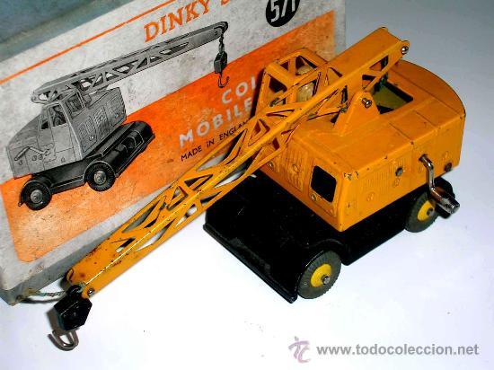 Coches a escala: Grua Coles ref. 571 fabricada en metal por la casa Dinky Toys, original años 50. - Foto 2 - 24106343