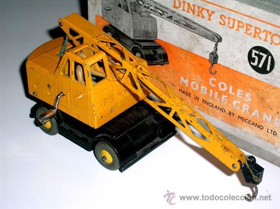 Coches a escala: Grua Coles ref. 571 fabricada en metal por la casa Dinky Toys, original años 50. - Foto 3 - 24106343
