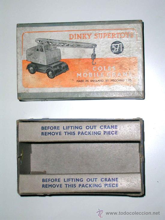 Coches a escala: Grua Coles ref. 571 fabricada en metal por la casa Dinky Toys, original años 50. - Foto 4 - 24106343