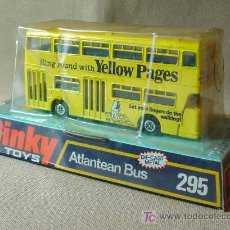 Coches a escala: AUTOBUS, ATLANTEAN BUS, Nº 295, DINKY TOYS, YELLOW PAGES, MADE IN ENGLAND, EN SU CAJA. Lote 59964574
