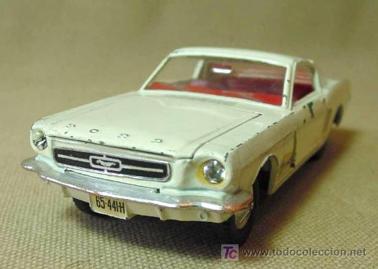 Coches a escala: AUTOMOVIL DINKY TOYS, FORD MUSTANG FASTBACK, Nº 161, FABRICADO POR MECCANO, MADE IN ENGLAND - Foto 7 - 19174814
