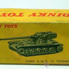 Coches a escala: CAJA VACIA DINKY TOYS TANQUE CHAR AMX 13 TONNES AÑOS 50. Lote 24557310