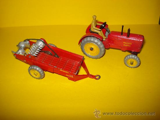 Coches a escala: DINKY TOYS. Nº . Año 1960s. TRACTOR y REMOLQUE MASSEY HARRIS . Meccano. Made in England. - Foto 6 - 28150603