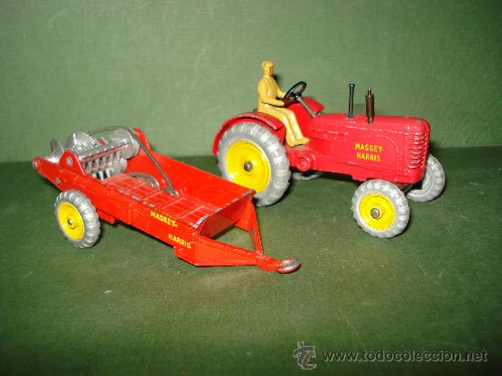 Coches a escala: DINKY TOYS. Nº . Año 1960s. TRACTOR y REMOLQUE MASSEY HARRIS . Meccano. Made in England. - Foto 3 - 28150603