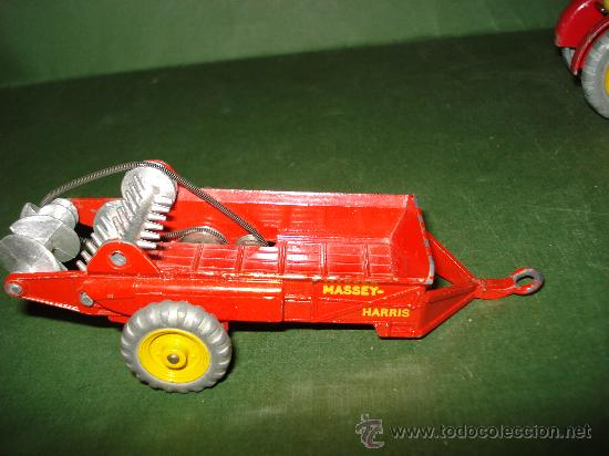 Coches a escala: DINKY TOYS. Nº . Año 1960s. TRACTOR y REMOLQUE MASSEY HARRIS . Meccano. Made in England. - Foto 5 - 28150603