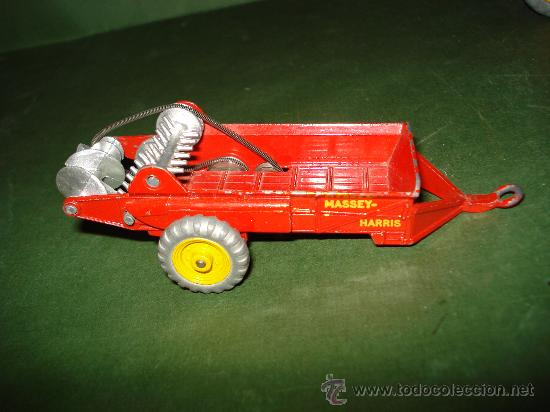 Coches a escala: DINKY TOYS. Nº . Año 1960s. TRACTOR y REMOLQUE MASSEY HARRIS . Meccano. Made in England. - Foto 7 - 28150603