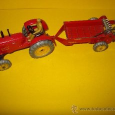 Coches a escala: DINKY TOYS. Nº . AÑO 1960S. TRACTOR Y REMOLQUE MASSEY HARRIS . MECCANO. MADE IN ENGLAND.. Lote 28150603