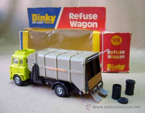CAMION, DINKY, REFUSE WAGON, CAST TOYS, 978, CON SU CAJA, 15 CM (Juguetes - Coches a Escala 1:43 Dinky Toys)