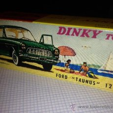 Coches a escala: CAJA VACIA DINKY TOYS: Nº 538 FORD TAUNUS 12 M. REPRO MADE IN FRANCE. Lote 32980242
