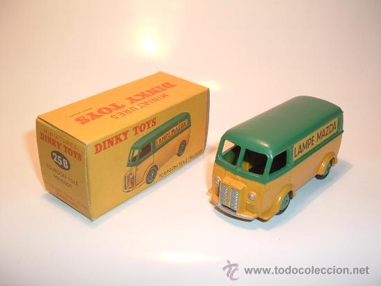PEUGEOT MAZDA VAN, DINKY TOYS, MECCANO FRANCIA, 1953, REF. 25B. TODO ORIGINAL, MINT IN BOX. (Juguetes - Coches a Escala 1:43 Dinky Toys)
