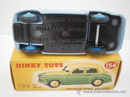 Coches a escala: HILLMAN MINX SALOON, DE DINKY TOYS, REF. 154-G, ORIGINAL 1954, MINT IN BOX. - Foto 6 - 38407127