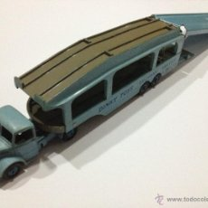 Coches a escala: ANTIGUO DINKY TOYS Nº 582 + 994 CAMION PORTA COCHES BEDFORD PULLMORE . AÑO 1953. MUY BUENO. Lote 39438772