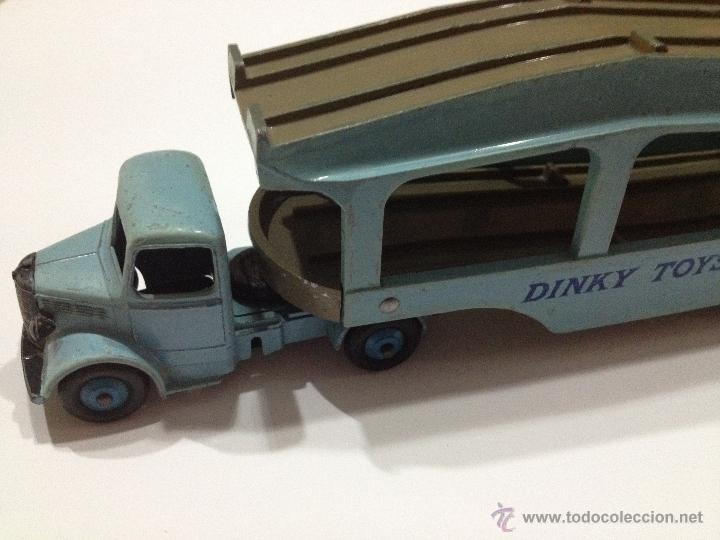 Coches a escala: ANTIGUO DINKY TOYS Nº 582 + 994 CAMION PORTA COCHES BEDFORD PULLMORE . AÑO 1953. MUY BUENO - Foto 10 - 39438772