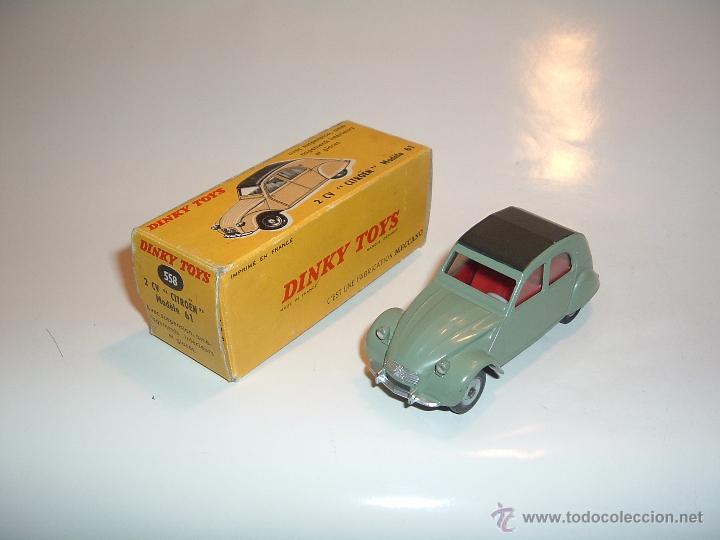 DINKY TOYS, RARO CITROEN 2 CV, MODELO 61, MECCANO ,REF. 558 (Juguetes - Coches a Escala 1:43 Dinky Toys)