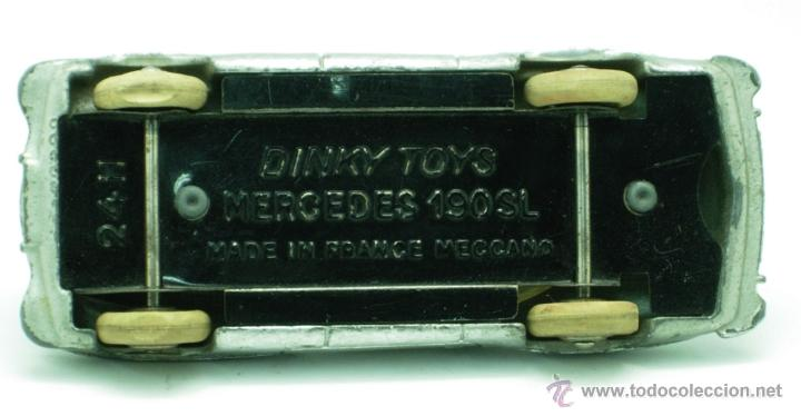 Coches a escala: Mercedes 190 SL Dinky Toys Meccano 1/43 Made in France repintado - Foto 3 - 43074001