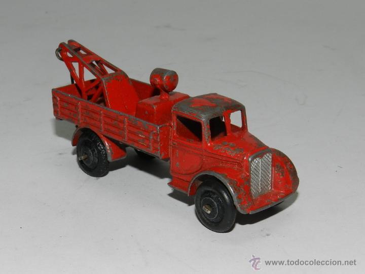 ANTIGUO DINKY TOYS GRUA BREAKDOWN TRUCK ROJA DE 1935. CON GANCHO OSCILANTE DE ENGANCHE. (Juguetes - Coches a Escala 1:43 Dinky Toys)