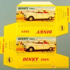 Coches a escala: DINKY TOYS 510 - PEUGEOT 204 SEDAN - CAJA VACÍA REPRO / REPRODUCCION NUEVA SIN USAR. Lote 47666132