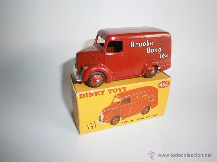 DINKY TOYS , TROJAN VAN BROOKE BOND TEA , MECCANO INGLATERRA, REF. 455, MINT IN BOX (Juguetes - Coches a Escala 1:43 Dinky Toys)