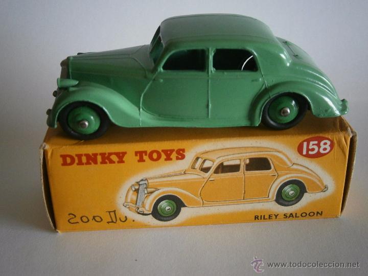 Coches a escala: DINKY TOYS, RILEY SALOON, REF. 40A, 158, VITRINA, SIN JUGAR. - Foto 2 - 48365131