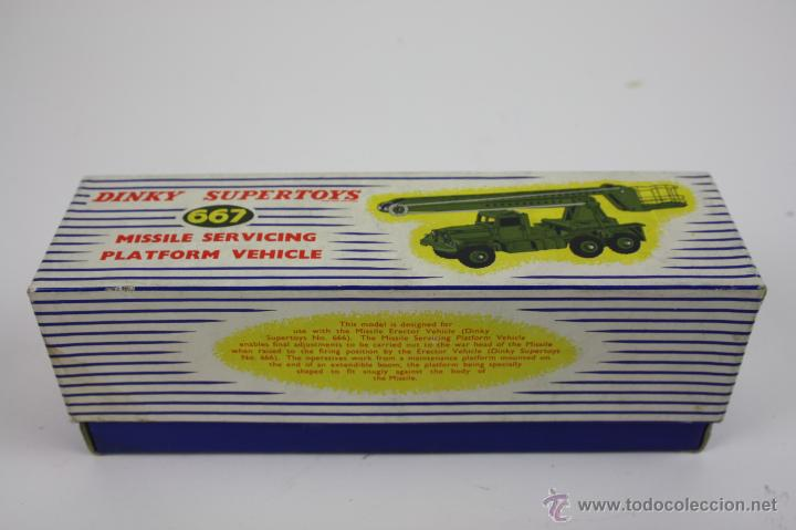CAJA VACÍA - DINKY SUPERTOYS MISSILE SERVICING PLATFORM VEHICLE (Juguetes - Coches a Escala 1:43 Dinky Toys)