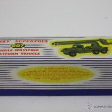 Coches a escala: CAJA VACÍA - DINKY SUPERTOYS MISSILE SERVICING PLATFORM VEHICLE. Lote 57610272