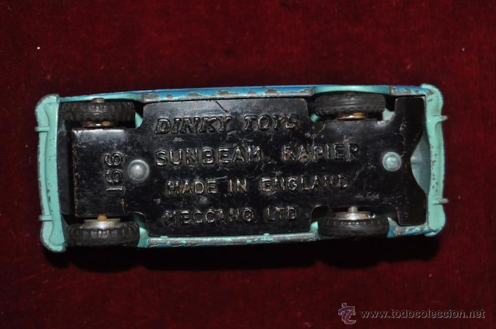 Coches a escala: ANTIGUO SUNBEAM RAPIER DINKY TOYS 1/43 (ENGLAND) - Foto 6 - 53057759
