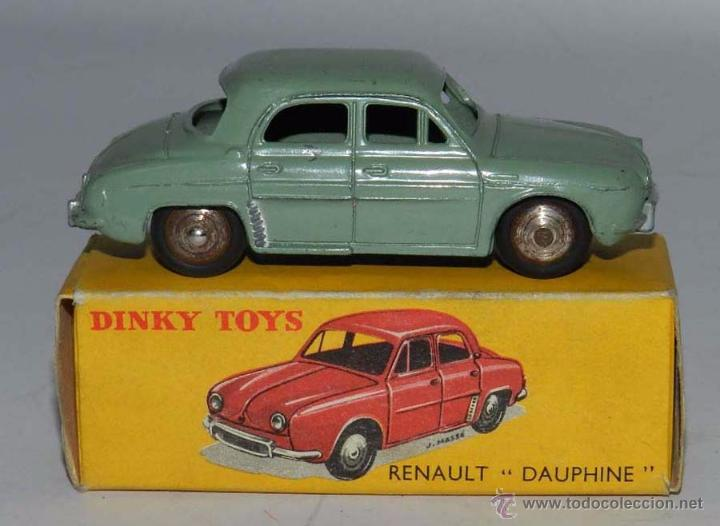 COCHE RENAULT DAUPHINE, 24E, METAL, WITH ITS ORIGINAL BOX DINKY TOYS, MECCANO, AÑOS 1950, EXCELENTE (Juguetes - Coches a Escala 1:43 Dinky Toys)