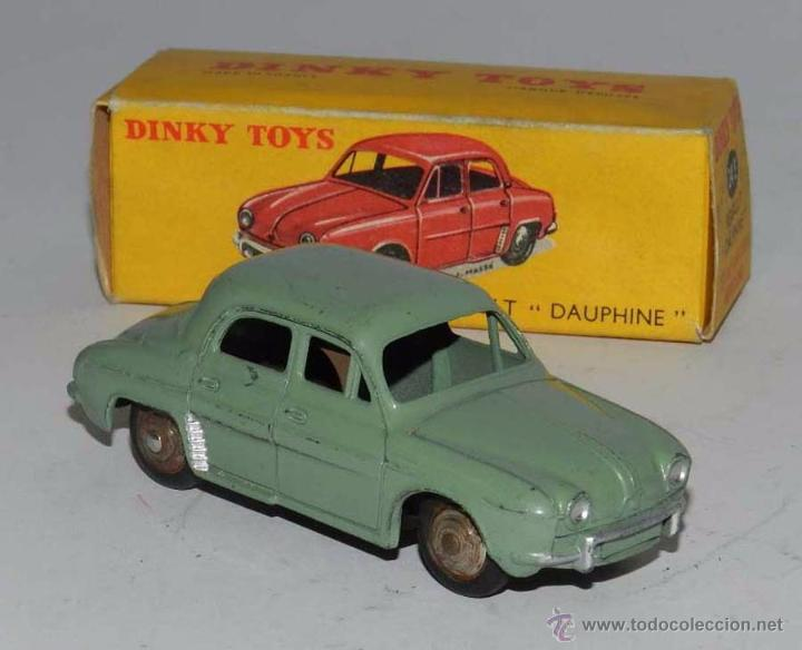 Coches a escala: COCHE RENAULT DAUPHINE, 24E, METAL, WITH ITS ORIGINAL BOX DINKY TOYS, MECCANO, AÑOS 1950, EXCELENTE - Foto 2 - 54385224