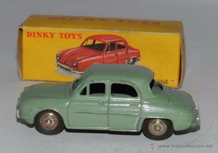 Coches a escala: COCHE RENAULT DAUPHINE, 24E, METAL, WITH ITS ORIGINAL BOX DINKY TOYS, MECCANO, AÑOS 1950, EXCELENTE - Foto 3 - 54385224