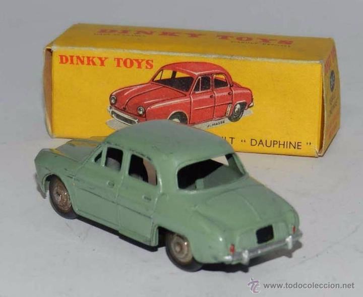 Coches a escala: COCHE RENAULT DAUPHINE, 24E, METAL, WITH ITS ORIGINAL BOX DINKY TOYS, MECCANO, AÑOS 1950, EXCELENTE - Foto 4 - 54385224