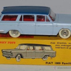 Coches a escala: COCHE FIAT 1800, REF. 548, WITH ITS ORIGINAL BOX DINKY TOYS, MECCANO, MADE IN FRANCE, AÑOS 1950 / 60. Lote 54386953